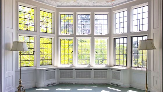 Stunning bright room with big bay windows from All-West Glass