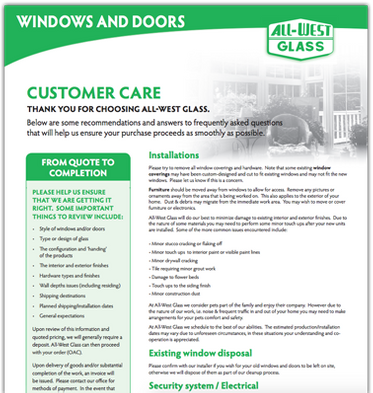 Customer Care Flyer