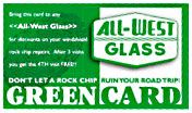 All-West Glass Green Card